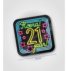 Onderzetter Neon - 21 jaar