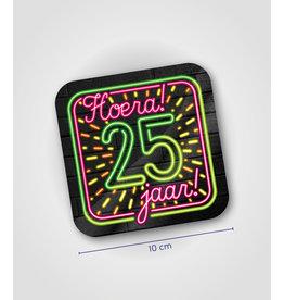 Onderzetter Neon - 25 jaar
