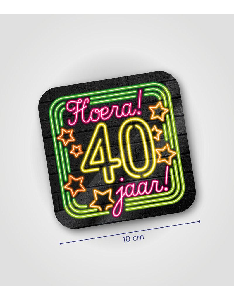 Onderzetter Neon - 40 jaar