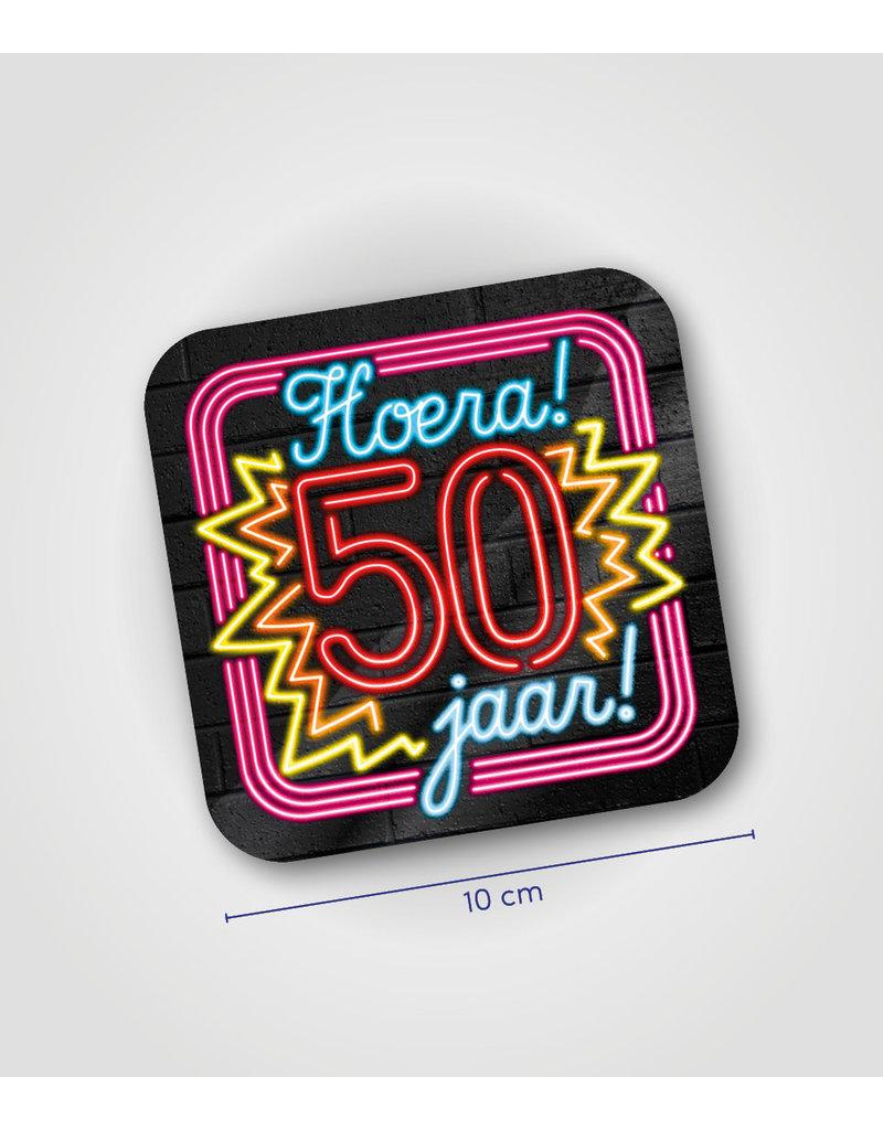 Onderzetter Neon - 50 jaar