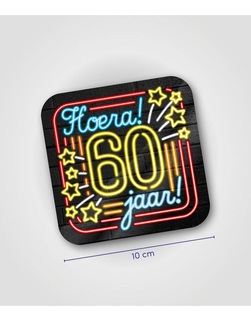 Onderzetter Neon - 60 jaar