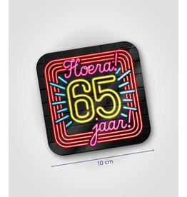 Onderzetter Neon - 65 jaar