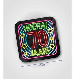 Onderzetter Neon - 70 jaar