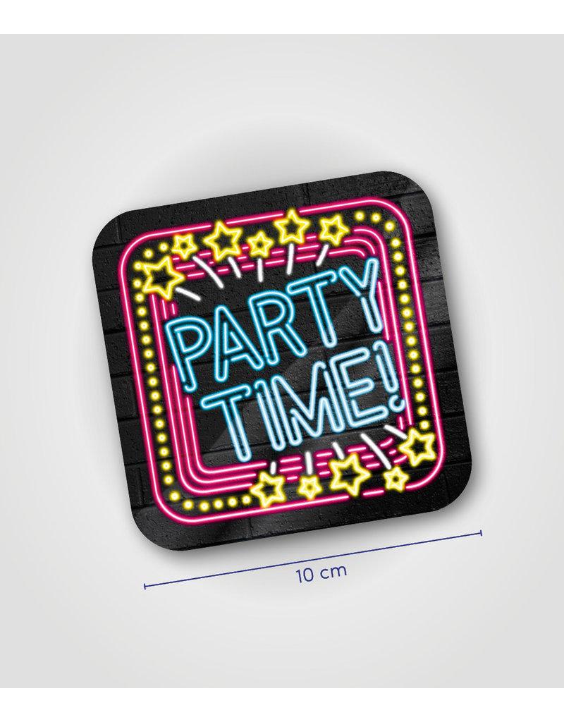 Onderzetter Neon - Party time!