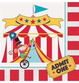 Servetten Circus Carnaval (16 stuks)