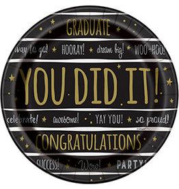 Bordjes Graduate You did it (23 cm, 8 stuks)