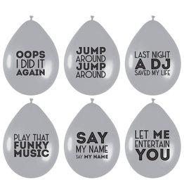 Ballonnen Song Quotes (6 stuks)