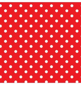 Servetten Rood met Dots (33x33cm, 20 stuks)