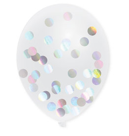 Confetti Ballonnen Holografisch (30 cm, 5 stuks)