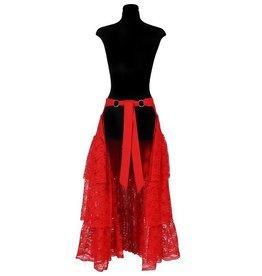 Lange Petticoat Kant, Rood