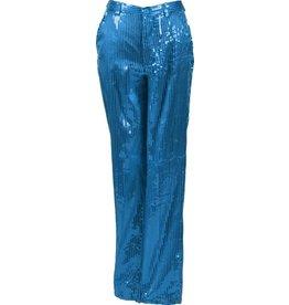 Paillettenbroek Dame, Turquoise