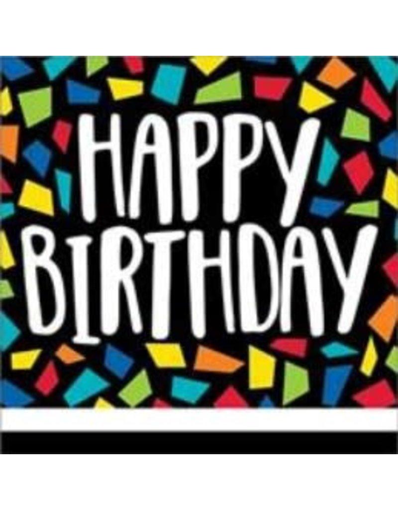 Kleurrijke Mosaïc Servetten Happy Birthday (16 stuks)
