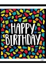 Kleurrijke Mosaïc Uitdeelzakjes Happy Birthday (8 stuks)