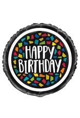 Kleurrijke Mosaïc Folie Ballon Happy Birthday (45 cm)