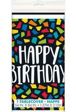 Kleurrijk Mosaïc Tafelkleed Happy Birthday (140 x 214 cm)