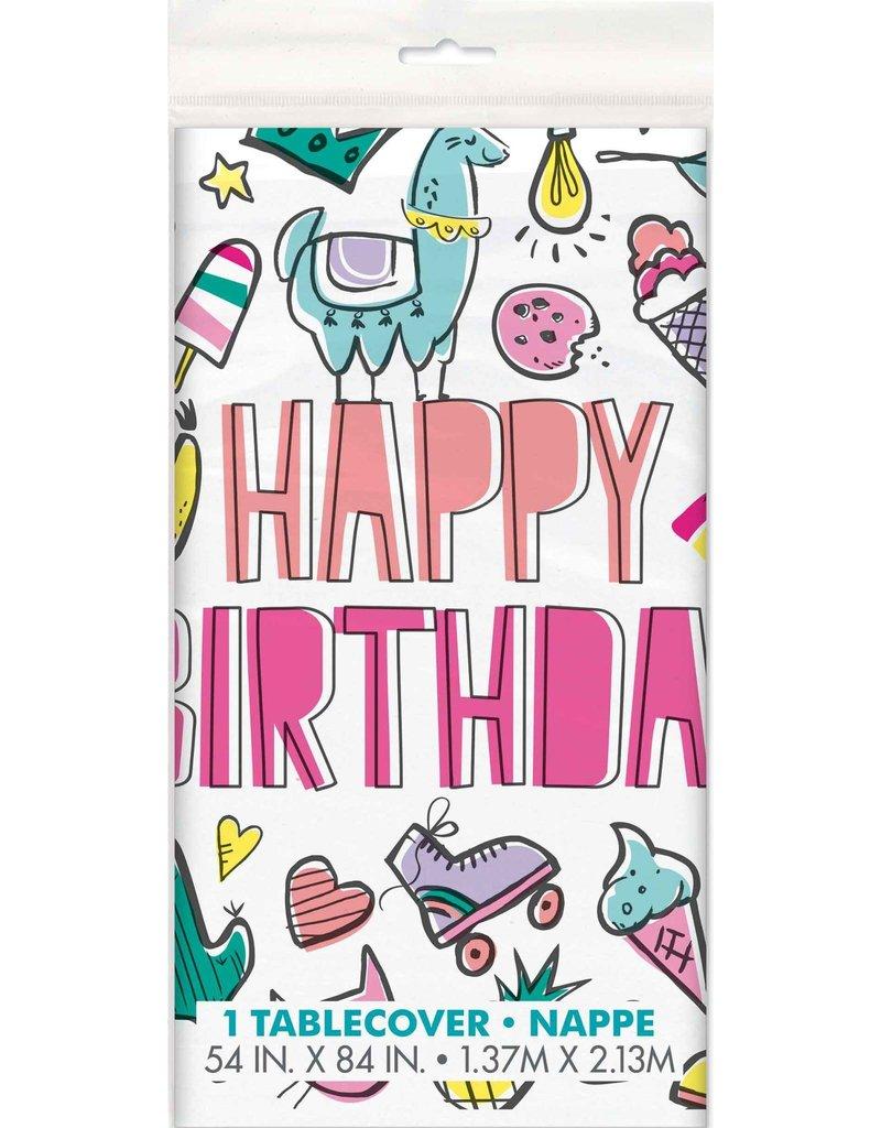 Tafelkleed Birthday Icons (140 x 214 cm))
