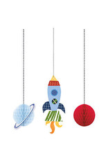 Hangdecoratie Honeycomb Space (3 stuks)
