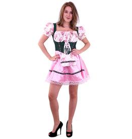 Tiroler Jurk Groen/Roze met Bloemen