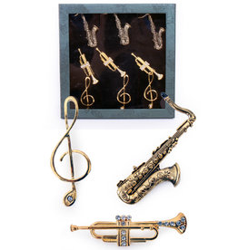 Broche Box Muziekinstrumenten 3 Assorti