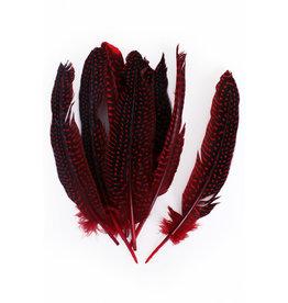 Veren Parelhoen 15/20 cm Rood (10 stuks)