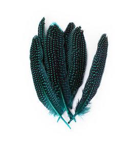 Veren Parelhoen 15/20 cm Turquoise  (10 stuks)