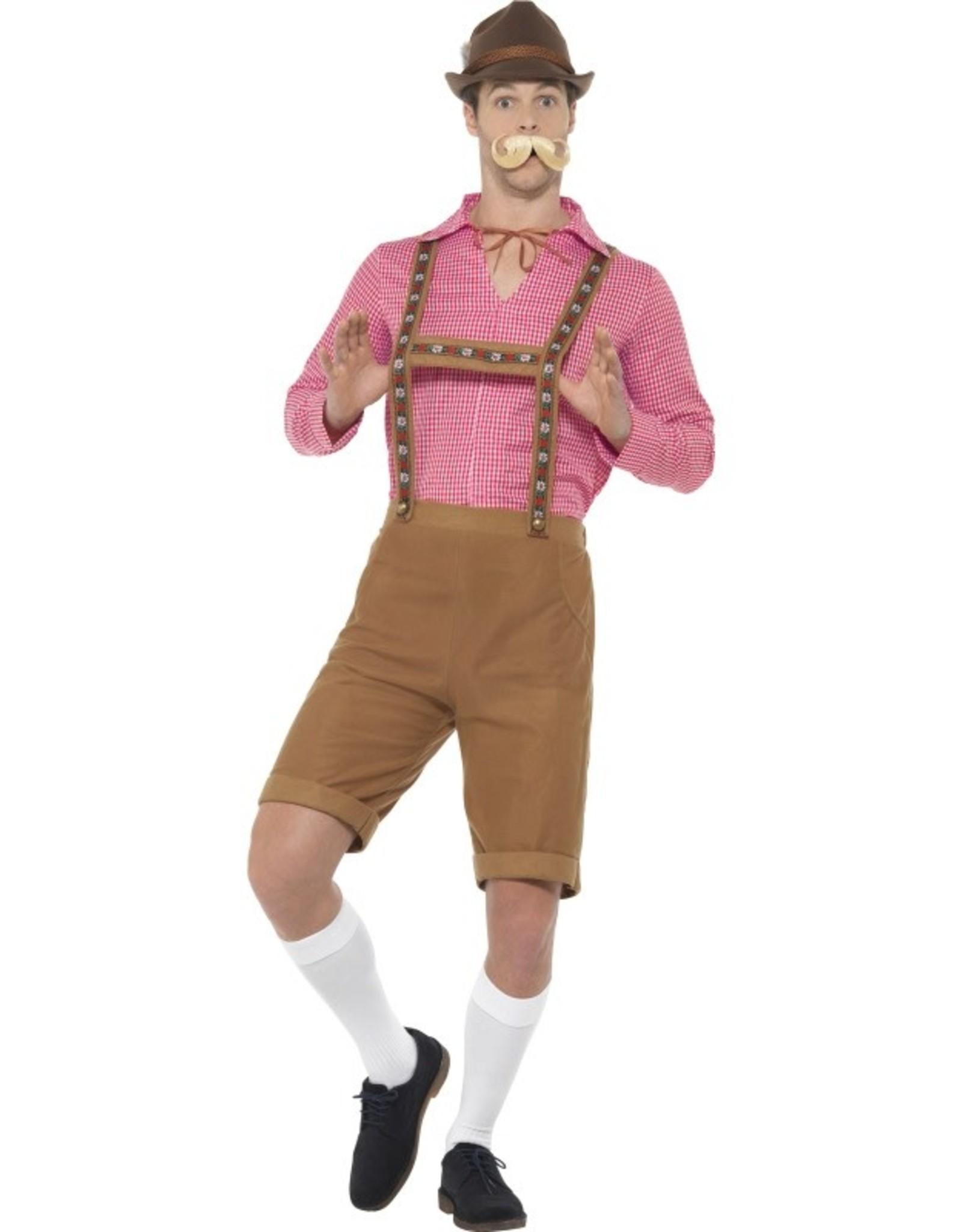 Bavarian Kostuum Rood/Bruin voor Heren