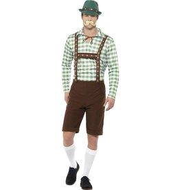 Alpine Bavarian Kostuum Groen/Bruin voor Heren