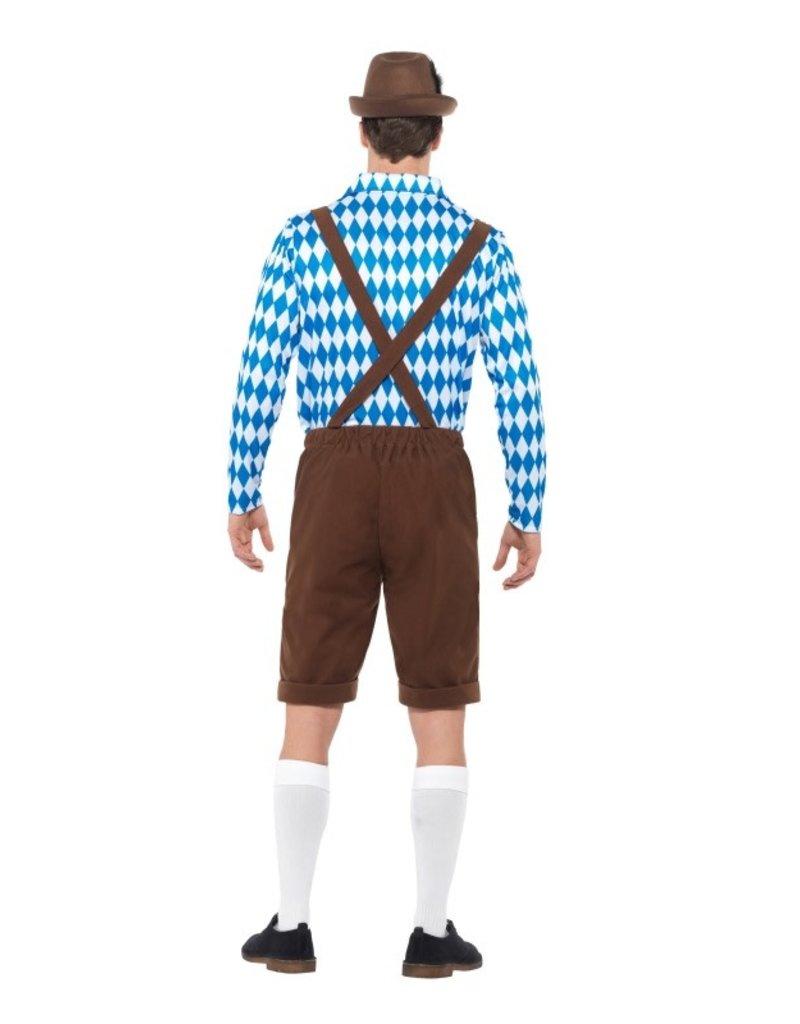 Bavarian Kostuum Blauw/Bruin voor Heren