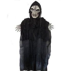 Halloweendecoratie Staand Skelet met licht en geluid (180cm)