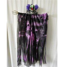 Hangdecoratie Halloween Clown met licht (60 cm)