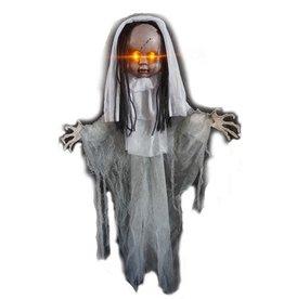 Hangdecoratie Halloween Meisje met licht (90 cm)