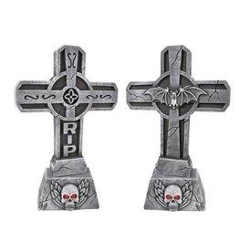 Grafsteen Kruis met licht en geluid (56 cm)