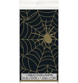Tafelkleed Spinnenweb Zwart/Goud (1.37 m x 2.13 m) )