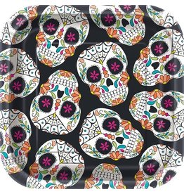 Bordjes Skull Day of the Dead (18 cm, 10 stuks)