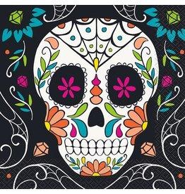 Servetten Skull Day of the Dead (20 stuks)
