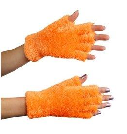 Handschoenen softy fluor oranje