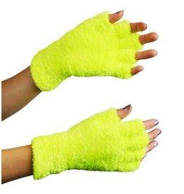 Handschoenen softy fluor geel