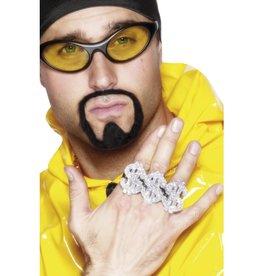 3 in 1 Dollar Rapper Ring, Zilver