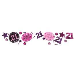Confetti Sparkling Pink 21 jaar (34 gr)