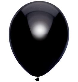 Haza Ballonnen Uni Metallic Zwart (30 cm, 10 stuks)