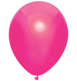 Haza Ballonnen Uni Metallic Hot Pink (30 cm, 10 stuks)
