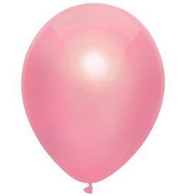 Haza Ballonnen Uni Metallic Roze (30 cm, 10 stuks)