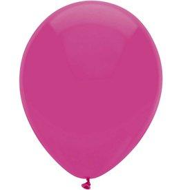 Haza Ballonnen Uni Hot Pink (30 cm, 10 stuks)