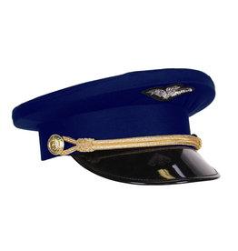 Pilotenpet, Marineblauw-Zwart