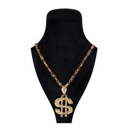 Rapper $ Ketting (Zware Kwaliteit), Goud