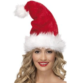 Kerstmuts met Glitter Deluxe