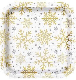 Bordjes Holiday Snowflakes (8 stuks, 23 x 23 cm)