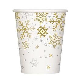 Bekertjes Holiday Snowflakes (8 stuks, 25 cl)