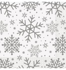 Servetten Holiday Snowflakes (16 stuks, 33 x 33 cm)