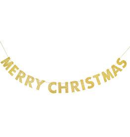 Letterslinger Merry Christmas, Glitter Goud